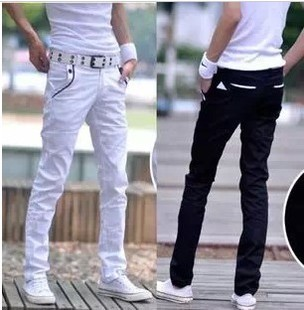 New summer specials 2014 men cotton slacks black and white bag mail long pants Taobao Agent