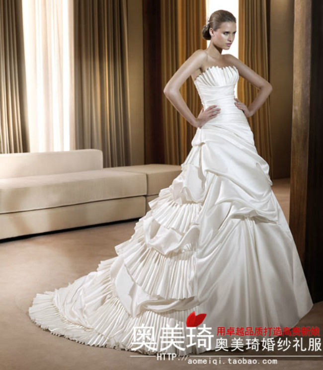 Свадебное платье Ogilvy & Mather Qi wedding q0178 Плотная ткань Длинный шлейф