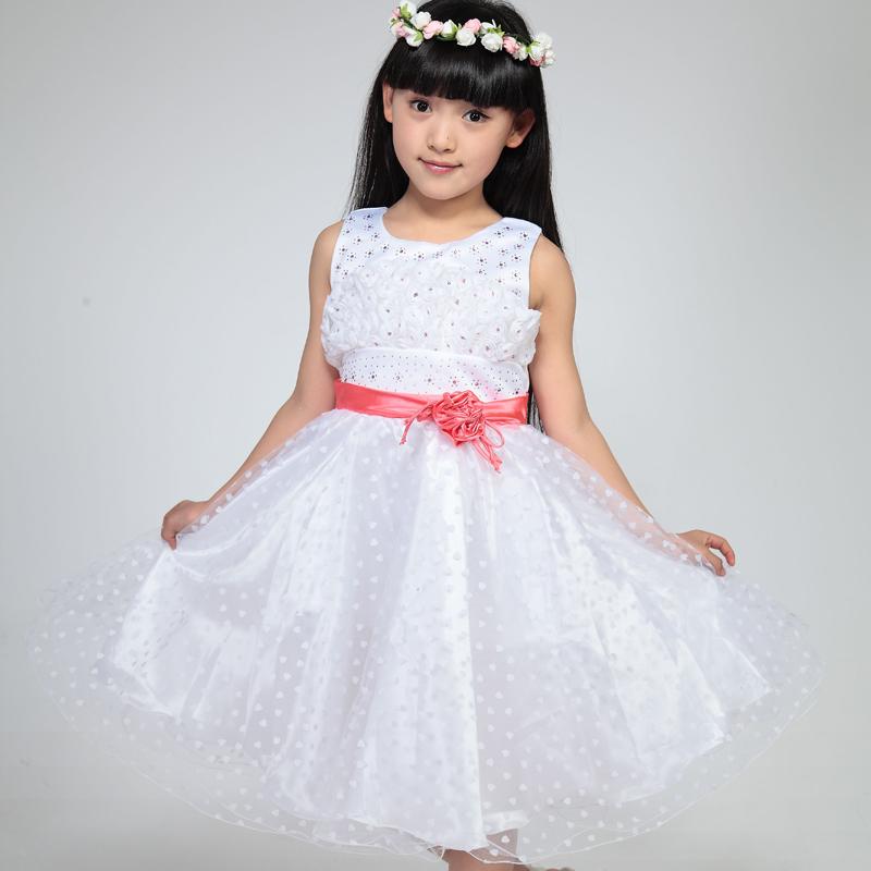 儿童演出服装女童纱裙公主裙礼服少儿演出服舞蹈裙纱裙08