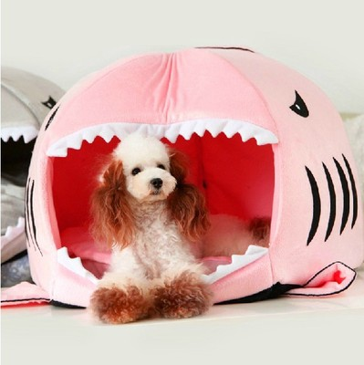 Kennel dog kennel supplies shark sofa nest kennel small dog Teddy Cotton Flax Bichon