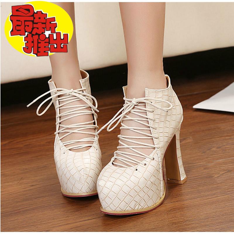 туфли Весна 2013 сырой обувь крест strappy обувь с полой каблуки туфли ремешками высокой пятки обувь женщины водонепроницаемый
