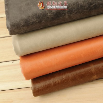 PU material vintage crazy horsehide leather sofa fabric Oil oily skin leather color leather Crazy Horse