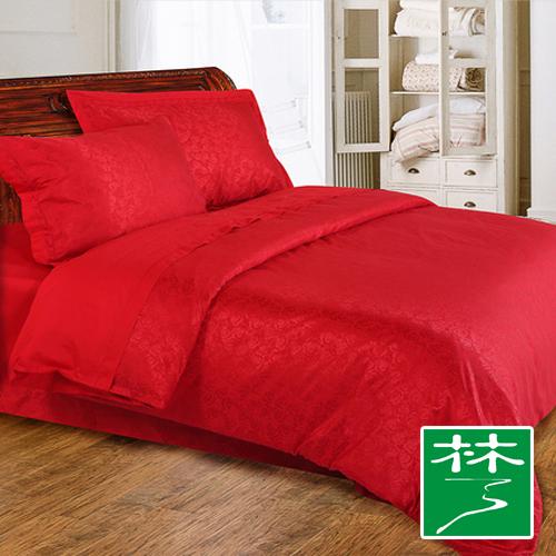 远梦家纺美丽人生全棉四件套婚庆纯棉结婚床上用品 甜蜜恋人 大红