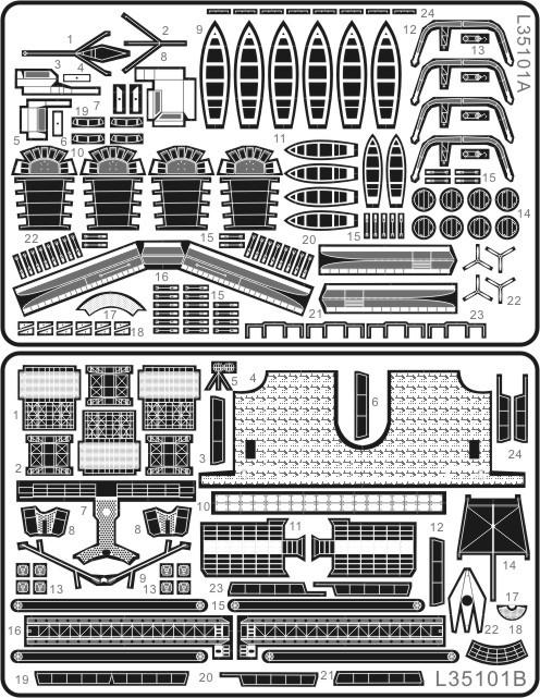 Модель военного корабля   L35101