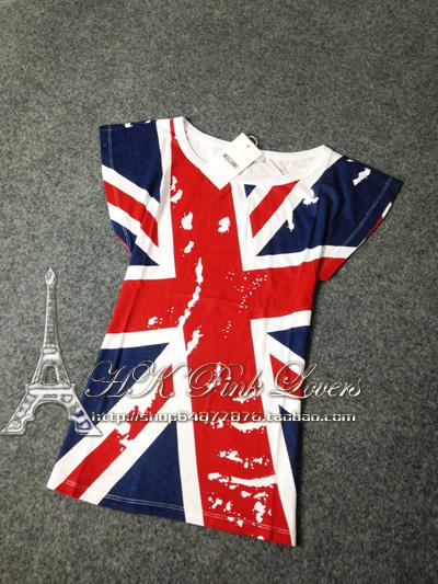Футболка Moschino Джек флаг Европы корейской версии себя новый тонкий модель t короткие Топ t рубашка