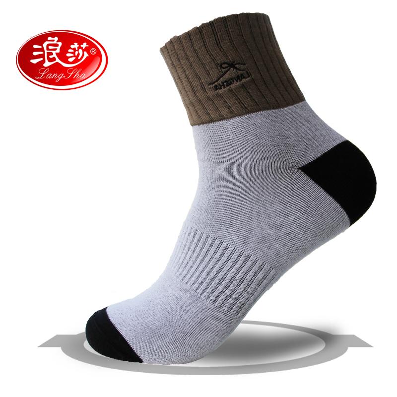 浪莎纯爷们男士秋冬厚款纯棉袜子 防臭透气商务男袜 时尚运动袜
