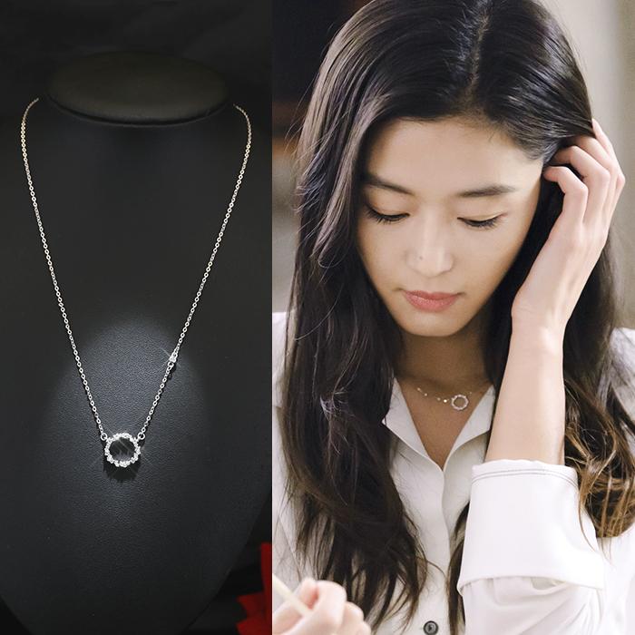 项链女纯银锁骨链蓝色大海的传说同款日韩国简约生日饰品s925吊坠