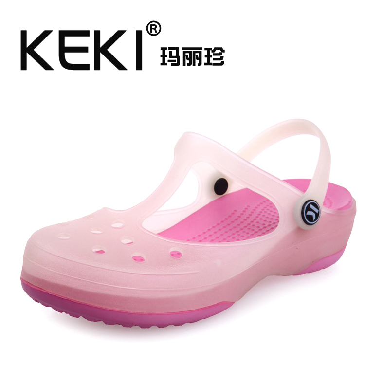 Authentic KEKI hole color-Mary Jane shoes footwear Sandals Sandals slippers garden summer jelly shoes