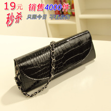 Bag new 2013 bag handbag diagonal bag crocodile pattern chain Clutch Korean version of the influx