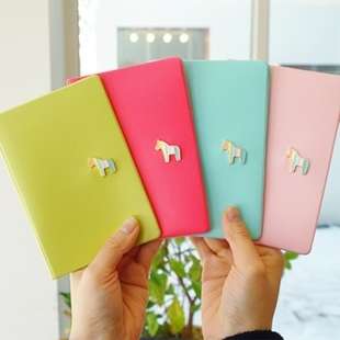 Multifunctional Anti-degaussing donbook authentic Korean cute candy colored horse Passport Folder protective cover