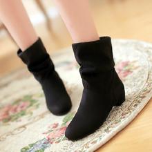 2013秋冬时尚女靴子韩版甜美短靴厚底棉鞋马丁靴低跟踝靴裸靴大码