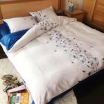 精美刺绣60支双面天丝绣花四件套 棉麻床单被套春夏床上用品1.8m