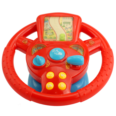 Early Learning Educational Toys Infant baby fitness steering wheel light music storytelling