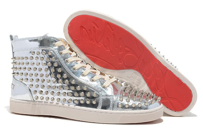 Ботинки мужские Louboutin CL Christian Круглый носок Светлая кожа