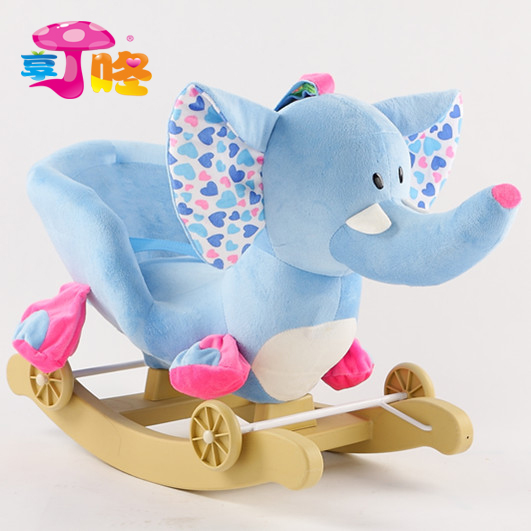 Ding Dang baby elephant rocker rocking horse toy rocking horse children's day gift with music of the national postal