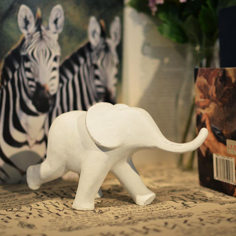 创意大小象北欧简约动物树脂个性礼品工艺摆件办公室内家居装饰