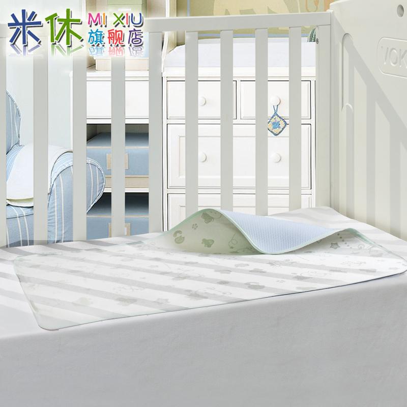 米休 夏季3D婴儿竹纤维隔尿垫超大 防水纯棉包边透气 宝宝用品