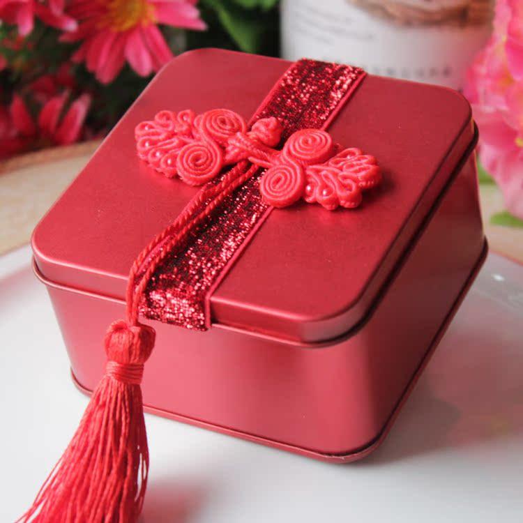 爱拉中国风个性创意 喜糖盒 红色大中小号喜糖盒子 成品发货