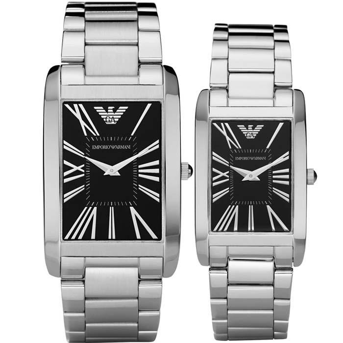 Часы Armani AR2053 AR2054 Кварцевые часы Пара стол