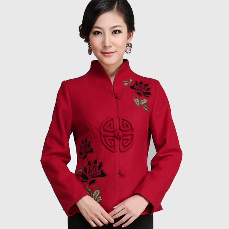 2013 new chinese lady autumn chinese improved leisure fashion retro, embroidered sleeves