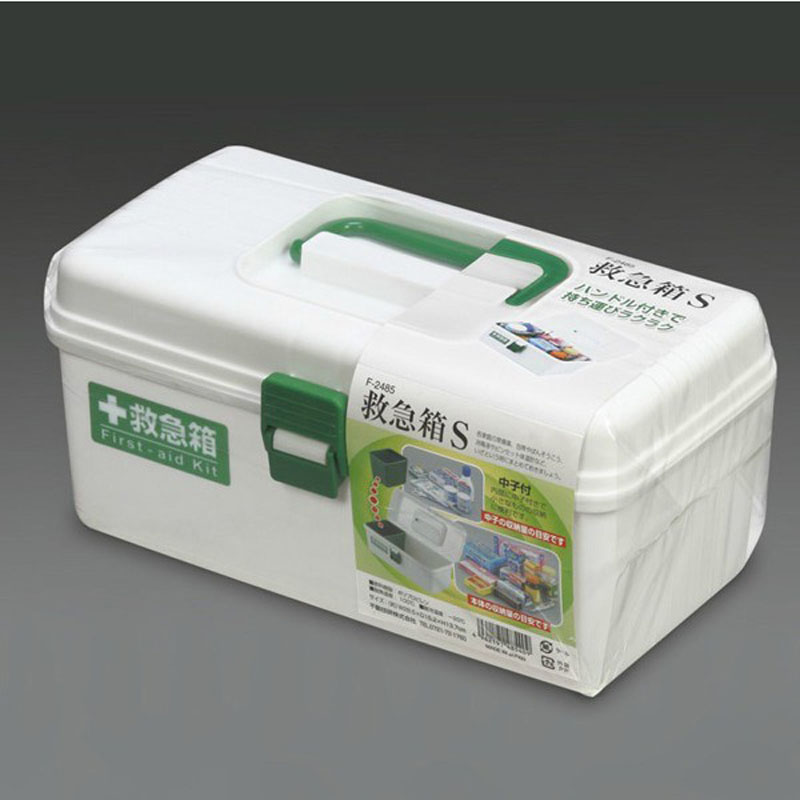 Japanese Import genuine home first aid kit large double-decker hydration structure of a family medicine cartridge double storage box