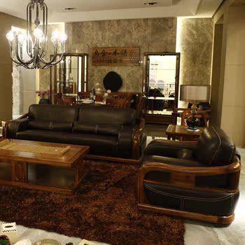 谷歌手机的柏森乌金木语家具 柏森沙发s211 柏森家具 真皮全实木新品图片