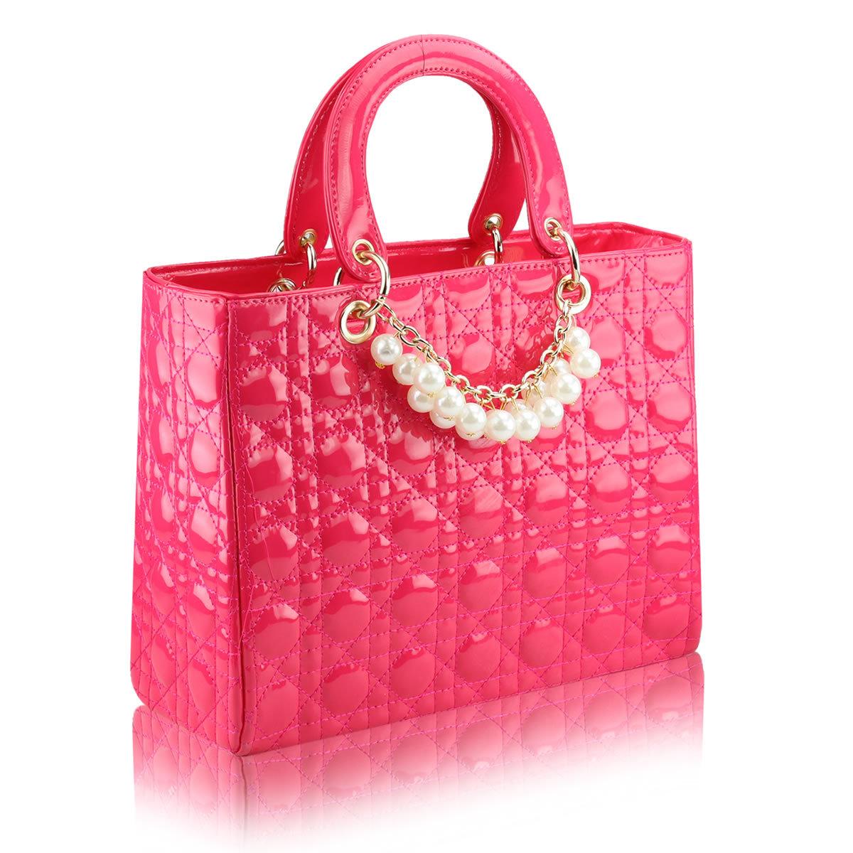正品承诺 2013新款亮皮女包 欧美时尚商务手提包新娘包包结婚包潮