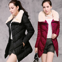 Korean style cotton coat cotton coat fur collar