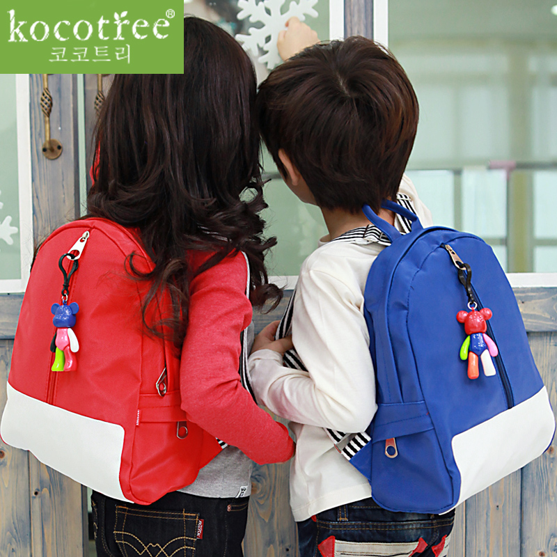 Korea KK tree children's schoolbags students baby cartoon Korean kindergarten school bags shoulder bags for men and women for email