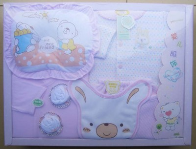 The new high-grade seven seasons paragraph sets newborn baby gift box baby suit free shipping