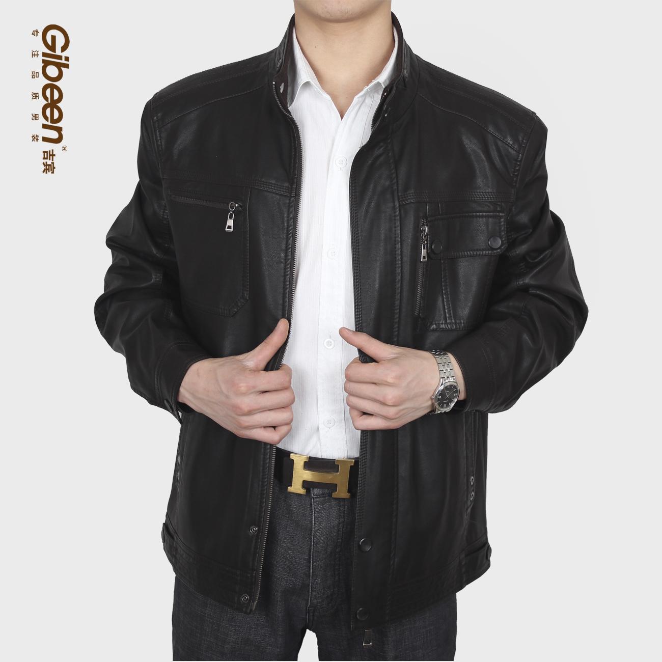 Одежда из кожи Gibeen 301 Имитация кожаной одежды Полиуретановый кожезаменитель Весна Воротник-стойка