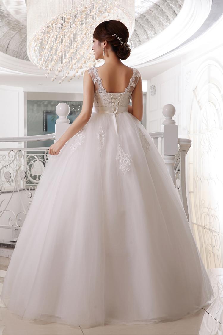 孕妇可穿 转为怀孕的亲们量身打造的一款大气婚纱,尽显公主气质