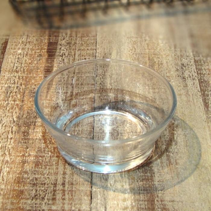钢化玻璃沙拉碗透明碗 古朴简约大小碗 居家用品生活杂货zakka