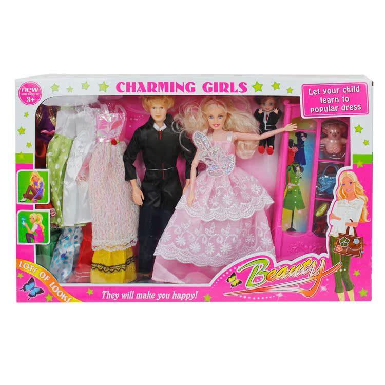 кукла Три из кукол Барби с шкафами общенациональной почты 45.99