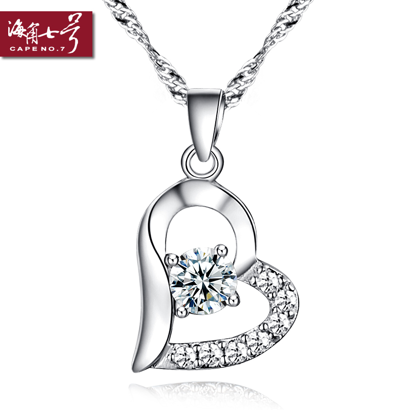银项链925纯银女 项链 女 短款 锁骨链 韩国纯银饰品 女 配饰女
