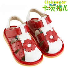 Hot Kaci Ge children summer new leather sandals leather female baby toddler shoes princess shoes special berserk