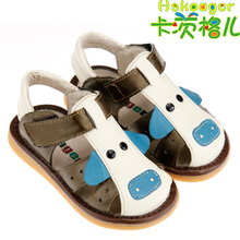 The Kaci Ge child summer cowhide tendon soft bottom of Jiao Jiao toddler shoes baby sandals for men and women baby shoes special berserk