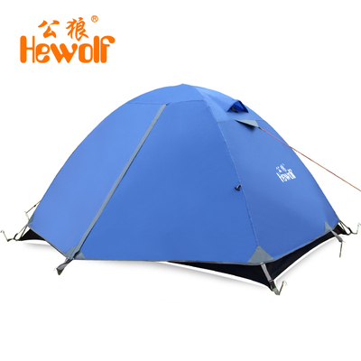 Male wolf outdoor camping tent free installation of automatic double against storm seasons 3-4 people camping outdoor tent