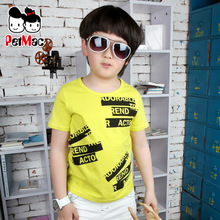 Children boys cotton short-sleeved T-shirt men short sleeve t-shirt big boy big boy summer 2013 new children's clothing wholesale