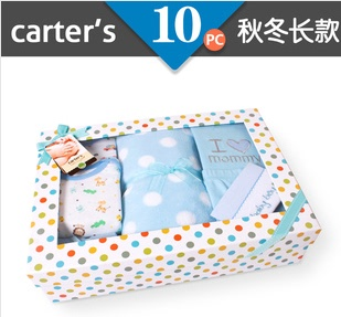 Own newborn baby shall fall and winter long section of men and treasure boxes full moon clothing + accessories 10