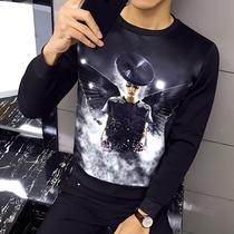 伦比斯男士长袖T恤春季韩版圆领衣服男秋装体恤打底衫卫衣t恤男装