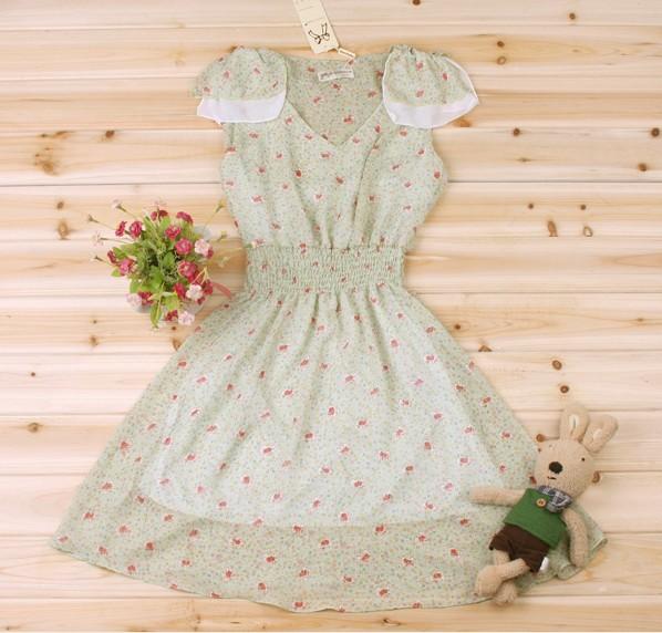 Женское платье a298 2012 Шифон