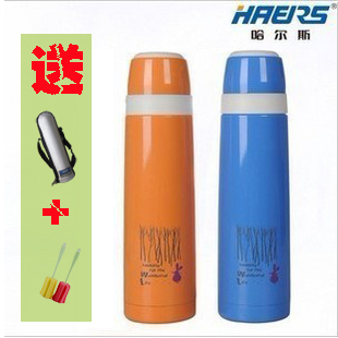 HAERS Hals genuine stainless steel vacuum flask thermos insulation pot HY-1000A-5 1L with strap