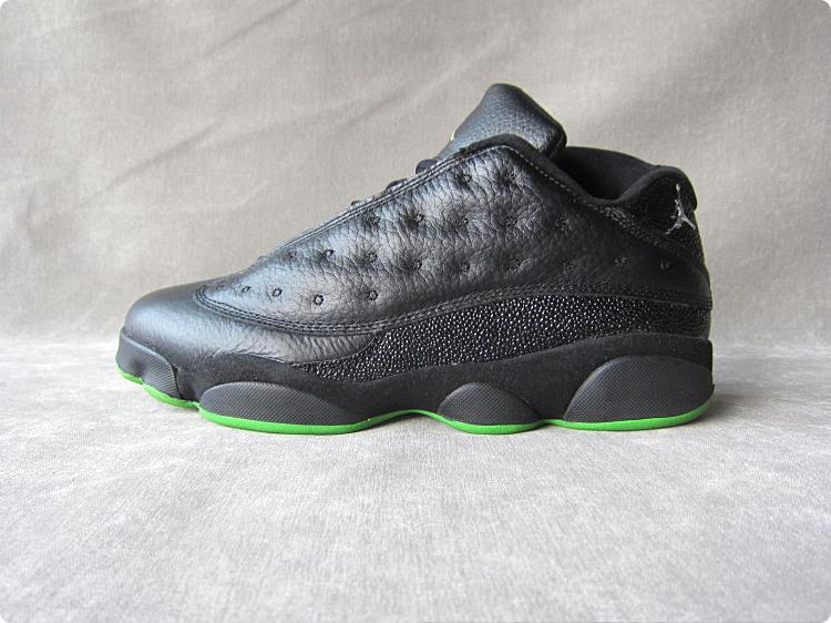 乔13图片_乔丹13代 黑绿 air jordan 13 男 篮球鞋 aj13 low 310810 030