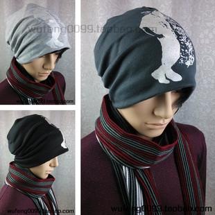 Новое на осень/зима 2013 мужчины корейской версии хип-хоп фигур Баотоу шляпы шарф Cap Hat досуга бум