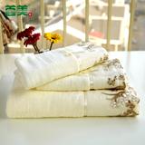 首美中国蕾丝花边纯棉毛巾