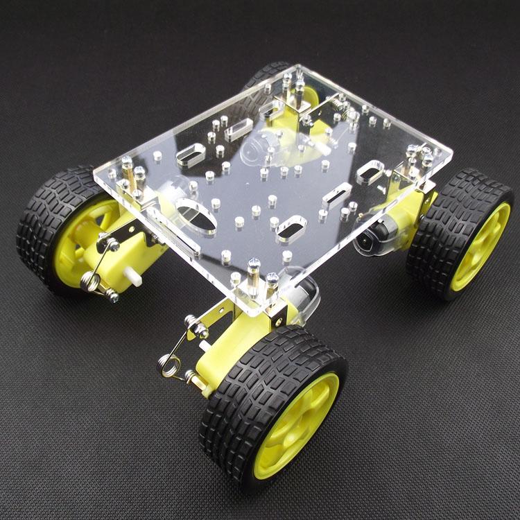 4WD拼装积木小车智小车悬挂/避震v积木机减震环图纸底盘太平洋图片