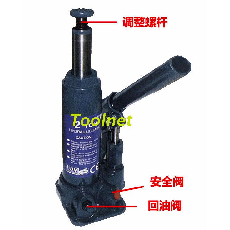Hydraulic Pressure Safety : Special oil pressure of the hydraulic jack ce t