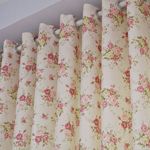 Purple Ke / high-grade pastoral wind / bedroom sitting room semi shade floral / finished fabric curtains cloth brigor