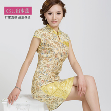 Slim cheongsam dress the daily cotton improved fashion summer vintage summer 2013 new Chinese short paragraph cotton cheongsam